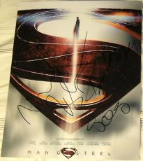 "Man Of Steel"" Superman Signed Autograph Cast Promo Poster 8x10 Photo Crowe +3"