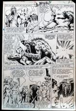 Man-Thing Issue #11 Page #27 Val Mayerik Pencils and Signed.  Bob Wiaceck inks