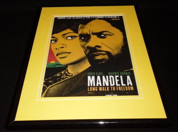 Mandela 2014 Framed ORIGINAL 11x14 Advertisement Idris Elba Naomie Harris