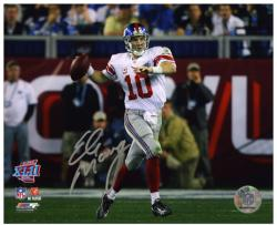 "Eli Manning New York Giants Super Bowl XLVI Roll Out Autographed 8"" x 10"" Photo"