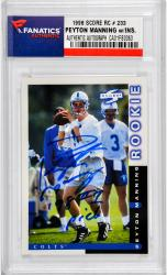 Peyton Manning Indianapolis Colts Autographed 1998 Score #233 Rookie Card with 1998 #1 Pick Inscription