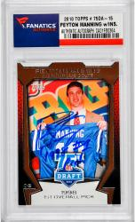 Peyton Manning Indianapolis Colts Autographed 2010 Topps #75DA-15 Card with 1998 #1 Pick Inscription - Mounted Memories