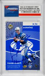 Peyton Manning Indianapolis Colts Autographed 1998 Upper Deck Starquest Card with How Did They Know Inscription - Mounted Memories