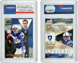 Peyton Manning Indianapolis Colts Autographed 1998 Pacific Aurora #71 Card with SB XLI MVP Inscription