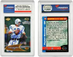 Peyton Manning Indianapolis Colts Autographed 1998 Collectors Edge Odyssey Preview Card - Mounted Memories