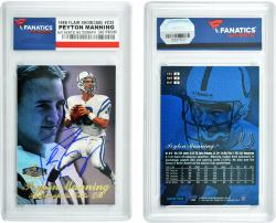 Peyton Manning Indianapolis Colts Autographed 1998 Flair Showcase Card - Mounted Memories