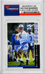 Peyton Manning Indianapolis Colts Autographed 1998 Score #233 Rookie Card