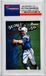 Peyton Manning Indianapolis Colts Autographed 1998 Scout's Choice #SC-1 Card