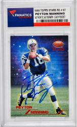 Peyton Manning Indianapolis Colts Autographed 1998 Topps Stars #67 Rookie Card