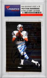 Peyton Manning Indianapolis Colts Autographed 1999 Bowman's Best #70 Card - Mounted Memories