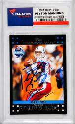 Peyton Manning Indianapolis Colts Autographed 2007 Topps #405 Card - Mounted Memories