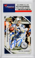 Peyton Manning Indianapolis Colts Autographed 2010 Panini Gridiron Gear #63 Card
