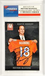 Peyton Manning Denver Broncos Autographed 2012 Elite #45 Card