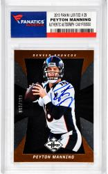 Peyton Manning Denver Broncos Autographed 2013 Panini Limited #29 Card