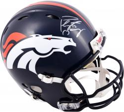 Peyton Manning Denver Broncos Autographed Riddell Pro-Line Revolution Authentic Helmet  with Manning Mask - Mounted Memories