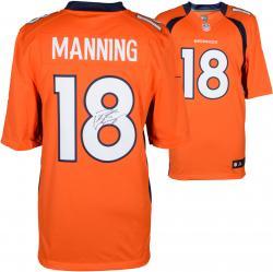 Peyton Manning Denver Broncos Autographed Nike Limited Orange Jersey