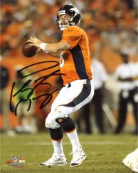 "Peyton Manning Denver Broncos Autographed 8"" x 10"" Vertical Orange Uniform Throw Photograph"