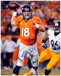 Peyton Manning Denver Broncos Autographed 16'' x 20'' vs. Pittsburgh Steelers Photograph