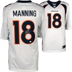 Peyton Manning Denver Broncos Autographed White Nike Limited Jersey