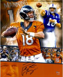 Peyton Manning  Denver Broncos Autographed 16'' x 20'' Collage Photograph - Mounted Memories
