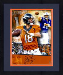 "Framed Peyton Manning  Denver Broncos Autographed 16"" x 20"" Collage Photograph"