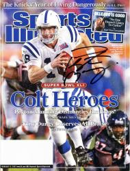 Peyton Manning Indianapolis Colts Autographed Colts Heroes Sports Illustrated Magazine - Mounted Memories