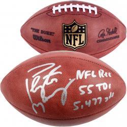 Peyton Manning Denver Broncos Autographed Duke Pro Football with Multiple Inscription