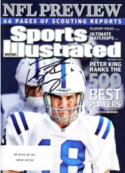Peyton Manning Indianapolis Colts Autographed NFL Preview Sports Illustrated Magazine - Mounted Memories