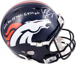 Peyton Manning Denver Broncos Autographed Riddell Pro-Line Revolution Authentic Helmet with Multiple Inscription