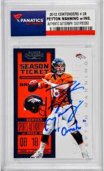 Peyton Manning Denver Broncos Autographed 2012 Contenders #29 Trading Card with Omaha Inscription - Mounted Memories
