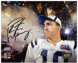 "Peyton Manning Indianapolis Colts SB XLI Confetti Shot Autographed 8"" x 10"" Photograph"