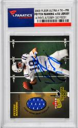 Peyton Manning Indianapolis Colts Autographed 2003 Fleer Ultra #TK-PM Card with Piece of Game-Used Jersey - Mounted Memories