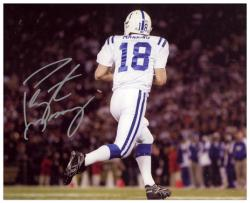 Peyton Manning Indianapolis Colts Autographed 8'' x 10'' Back Shot Photograph - Mounted Memories