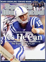 Peyton Manning Indianapolis Colts Autographed Yes He Can Sports Illustrated Magazine - Mounted Memories