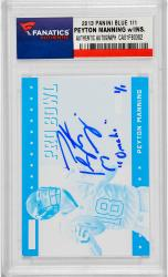 Peyton Manning Denver Broncos Autographed 2013 Panini Blue Card with Omaha Inscription