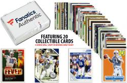 Peyton Manning Denver BroncosCollectible Lot of 20 NFL Trading Cards - Mounted Memories