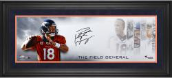 Peyton Manning Denver Broncos Framed 10'' x 30'' Field General Photograph - Mounted Memories