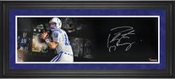 Peyton Manning Indianapolis Colts Framed Autographed 10'' x 30'' Film Strip Photograph - Mounted Memories