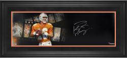 Peyton Manning Tennessee Volunteers Framed Autographed 10'' x 30'' Film Strip Photograph - Mounted Memories