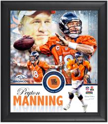 Peyton Manning Denver Broncos Framed Collage with Game-Used Football-L.E. of 518 - Mounted Memories