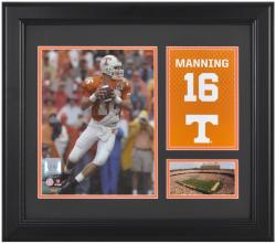 """Peyton Manning Tennessee Volunteers Campus Legend 15"""" x 17"""" Framed Collage"""