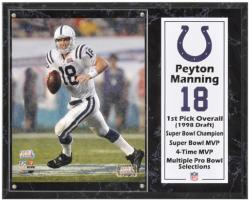 "Peyton Manning Indianapolis Colts Sublimated 12"" x 15"" Player Plaque"