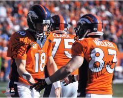 """Peyton Manning & Wes Welker Denver Broncos Autographed 16"""" x 20"""" Handshake Photograph"""