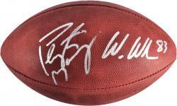 Peyton Manning & Wes Welker Denver Broncos Autographed Duke Pro Football