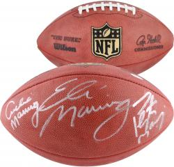 Archie, Eli, and Peyton Manning Autographed Duke Pro Football