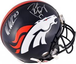Peyton Manning & Wes Welker Denver Broncos Dual Autographed Riddell Pro-Line Authentic Helmet