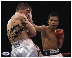 Manny Pacquiao Autographed 8'' x 10'' Bloodshot Eyes Photograph - Mounted Memories