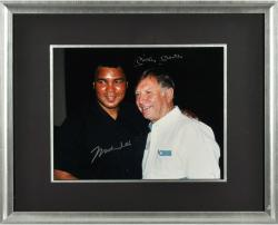 Mickey Mantle & Muhammad Ali Dual-Signed 11'' x 14'' Framed Photograph
