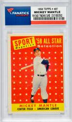 Mickey Mantle 1958 TOPPS # 487 Vintage Baseball Card