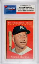 Mickey Mantle New York Yankees 1961 Topps #475 Card - Mounted Memories